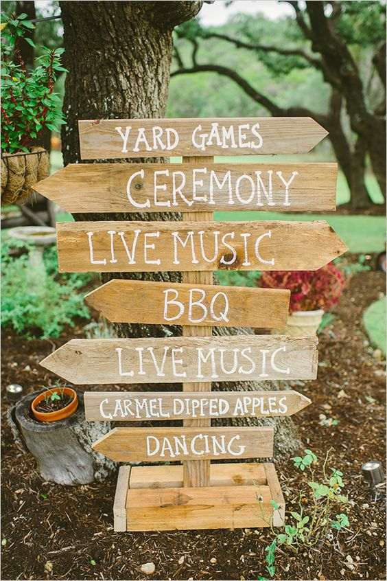rustic-wood-wedding-directions-sign