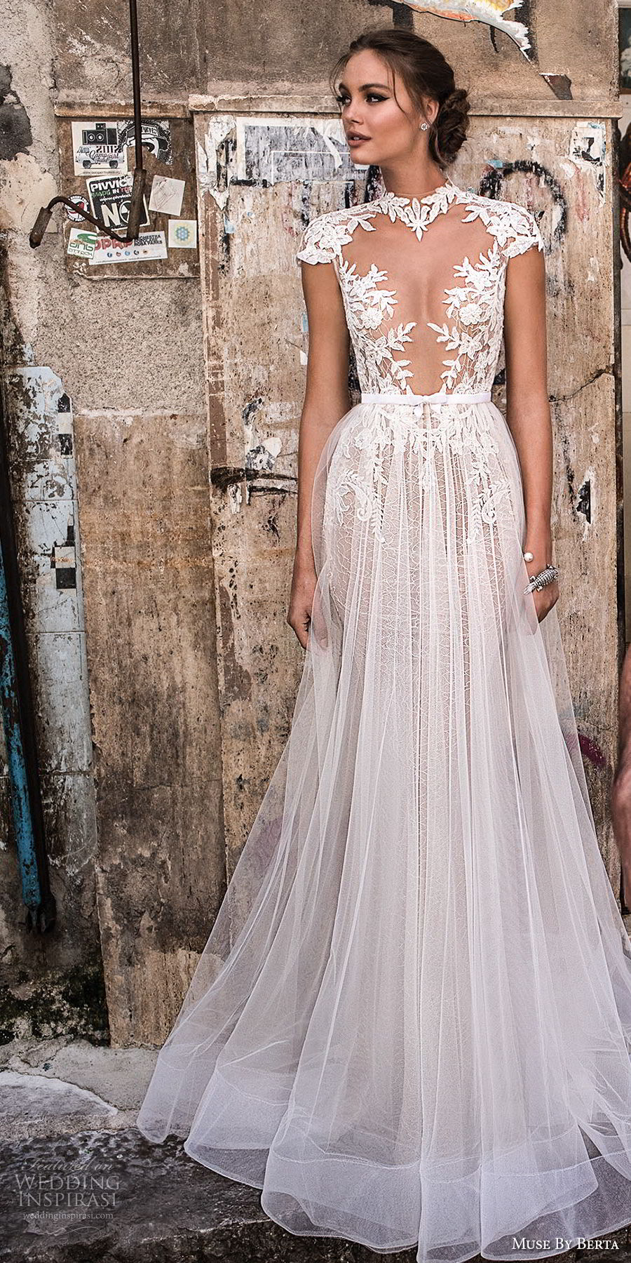 muse-berta-2018-bridal-cap-sleeves-high-neck-deep-plunging-sweetheart-neckline-heavily-embellished-bodice-tulle-skirt-sexy-romantic-a-line-wedding-dress-keyhole-back (1)