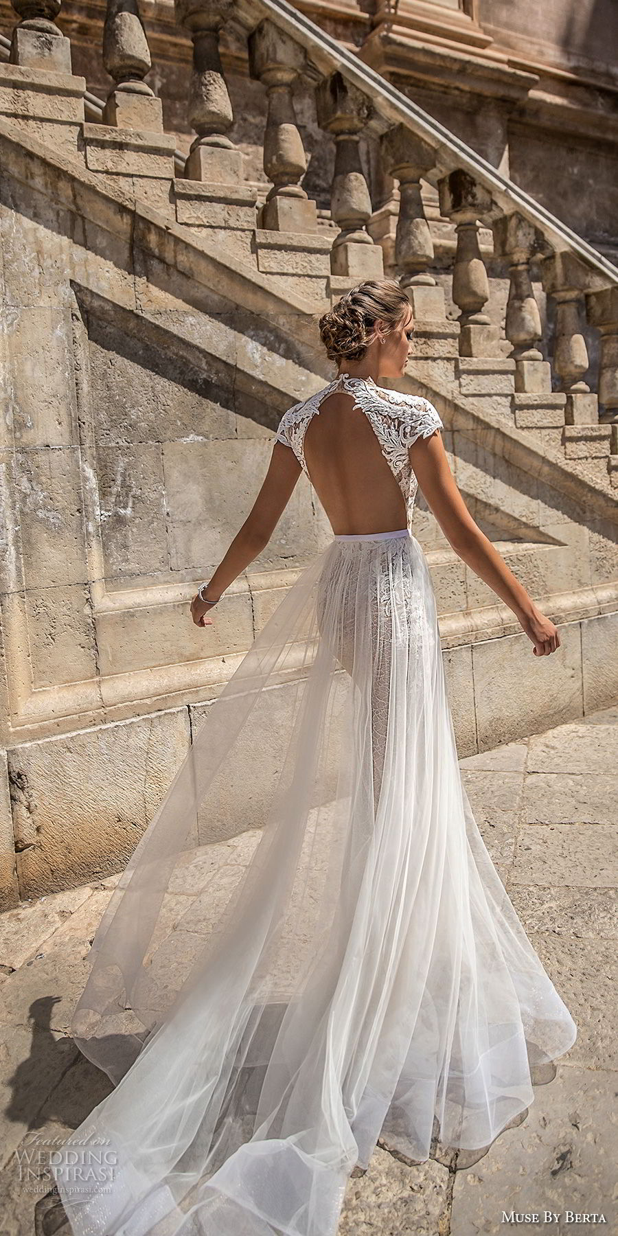muse-berta-2018-bridal-cap-sleeves-high-neck-deep-plunging-sweetheart-neckline-heavily-embellished-bodice-tulle-skirt-sexy-romantic-a-line-wedding-dress-keyhole-back (2)