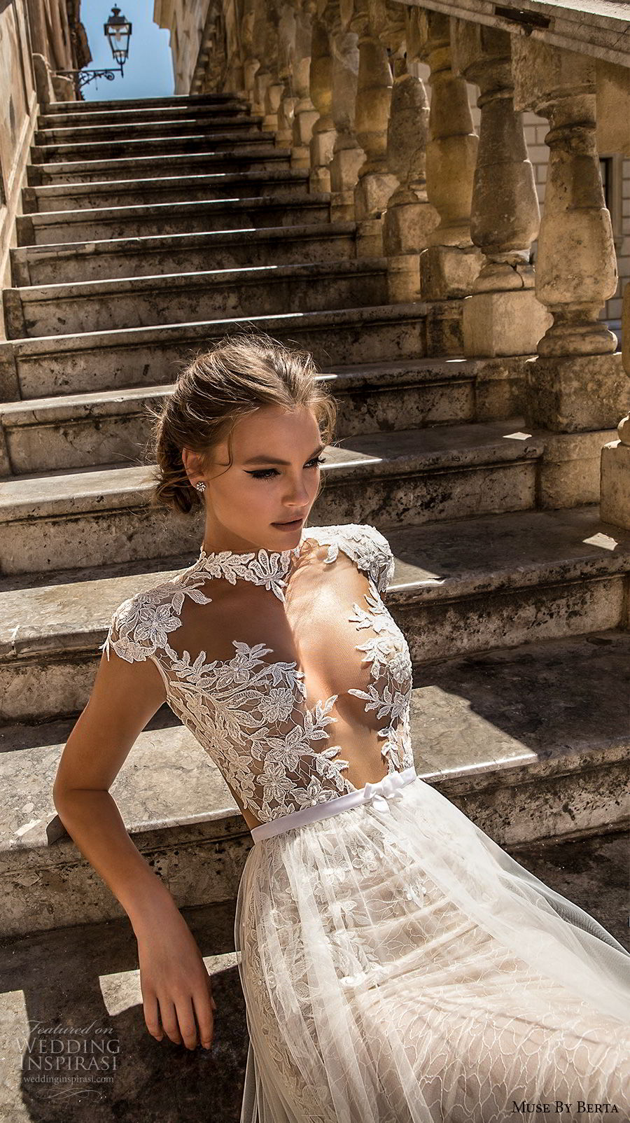 muse-berta-2018-bridal-cap-sleeves-high-neck-deep-plunging-sweetheart-neckline-heavily-embellished-bodice-tulle-skirt-sexy-romantic-a-line-wedding-dress-keyhole-back-cha