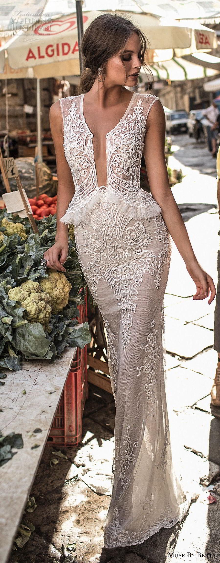 muse-berta-2018-bridal-sleeveless-deep-plunging-v-neck-heavily-embellished-bodice-elegant-sexy-peplum-sheath-wedding-dress-sheer-keyhole-back-6-lv