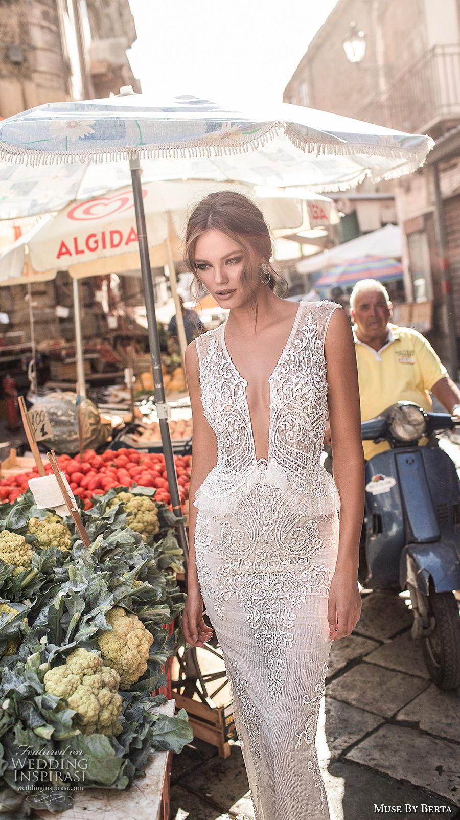 muse-berta-2018-bridal-sleeveless-deep-plunging-v-neck-heavily-embellished-bodice-elegant-sexy-peplum-sheath-wedding-dress-sheer-keyhole-back-6-mv