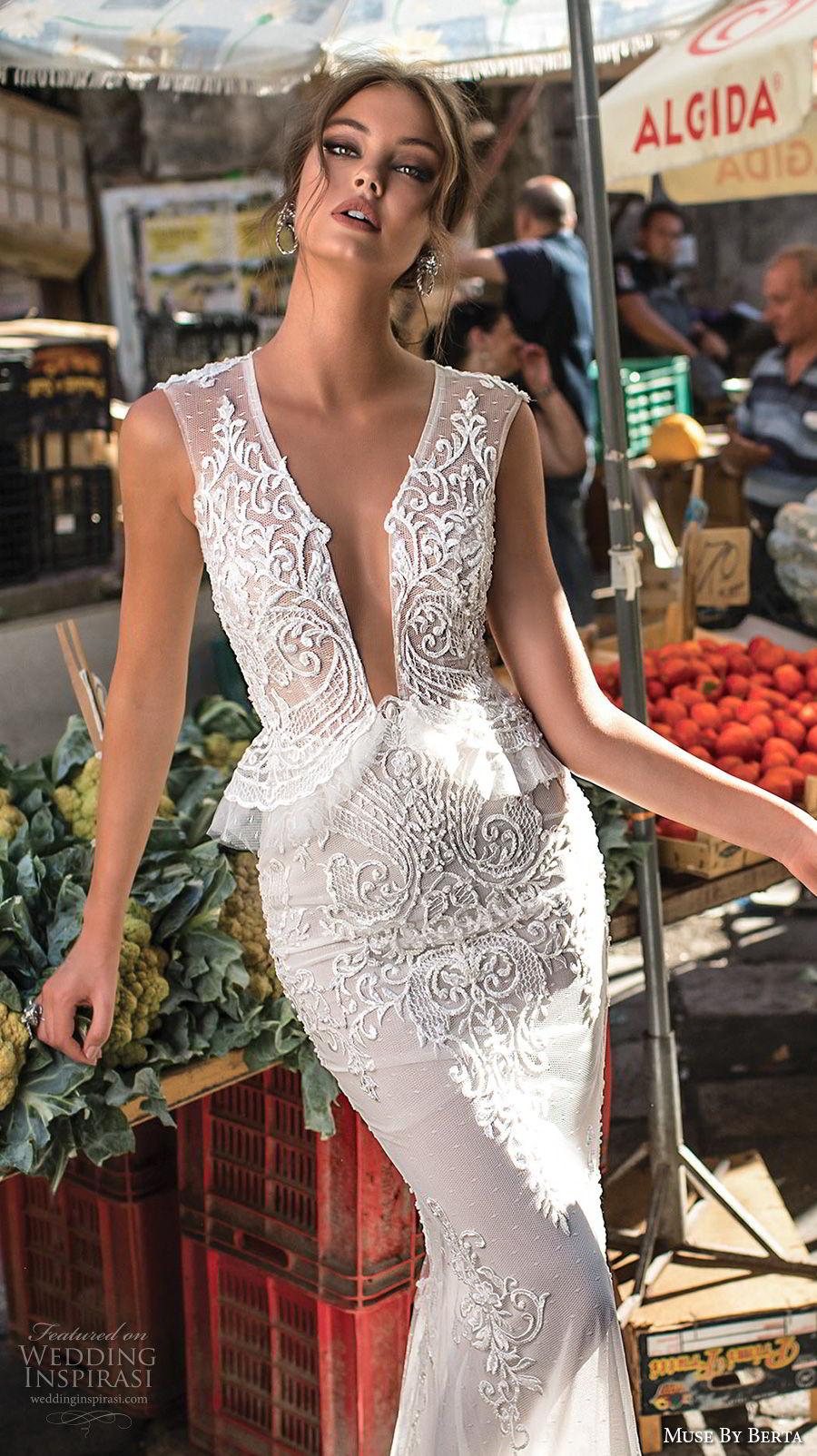 muse-berta-2018-bridal-sleeveless-deep-plunging-v-neck-heavily-embellished-bodice-elegant-sexy-peplum-sheath-wedding-dress-sheer-keyhole-back-6-zv